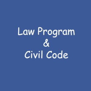 Law Program & Civil Code